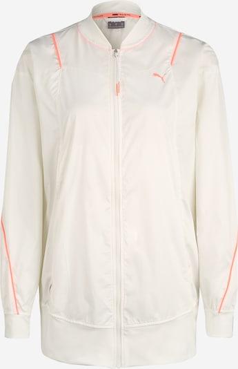 PUMA Sportjas 'Pearl Woven' in de kleur Koraal / Wit, Productweergave