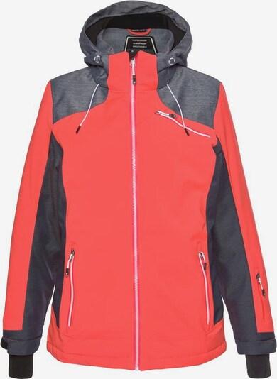 KILLTEC Skijacke in grau / koralle, Produktansicht