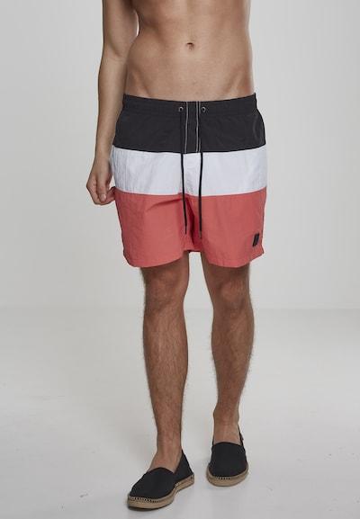 Urban Classics Shorts in koralle / schwarz / weiß: Frontalansicht