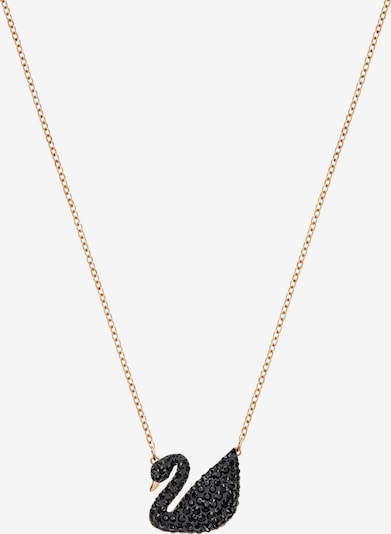 Swarovski Chaîne 'Swan' en or rose / noir, Vue avec produit