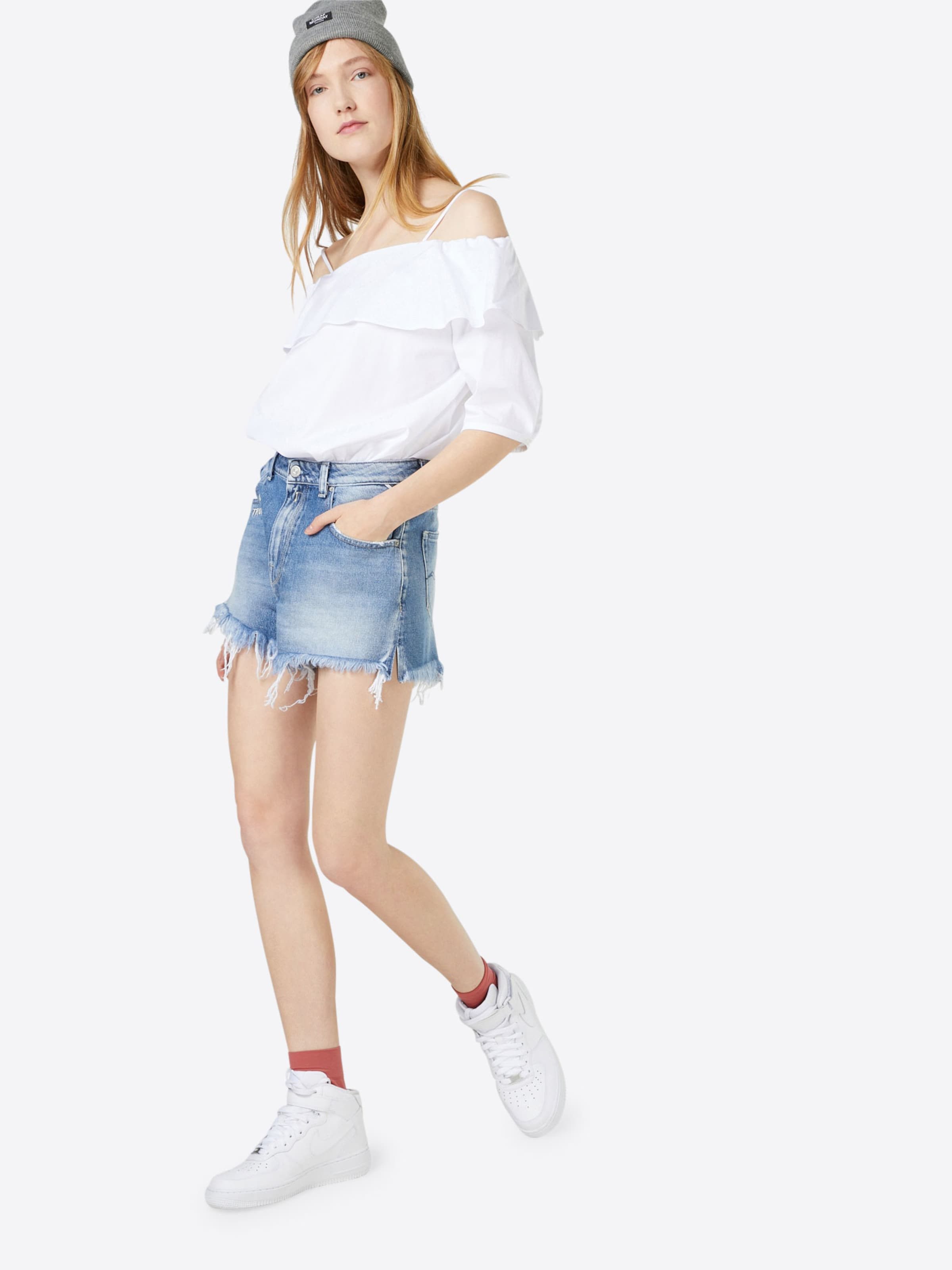 REPLAY Mid Waist Jeans Short Versand Outlet-Store Online 2018 Neuer Günstiger Preis Großer Verkauf Online 33qKIW