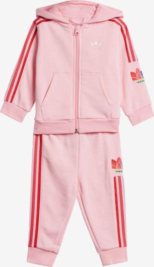 ADIDAS ORIGINALS Trainingsanzug 'Adicolor 3D Trefoil' in blau / rosa / rot, Produktansicht