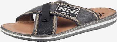 RIEKER Pantofle - šedá / černá, Produkt