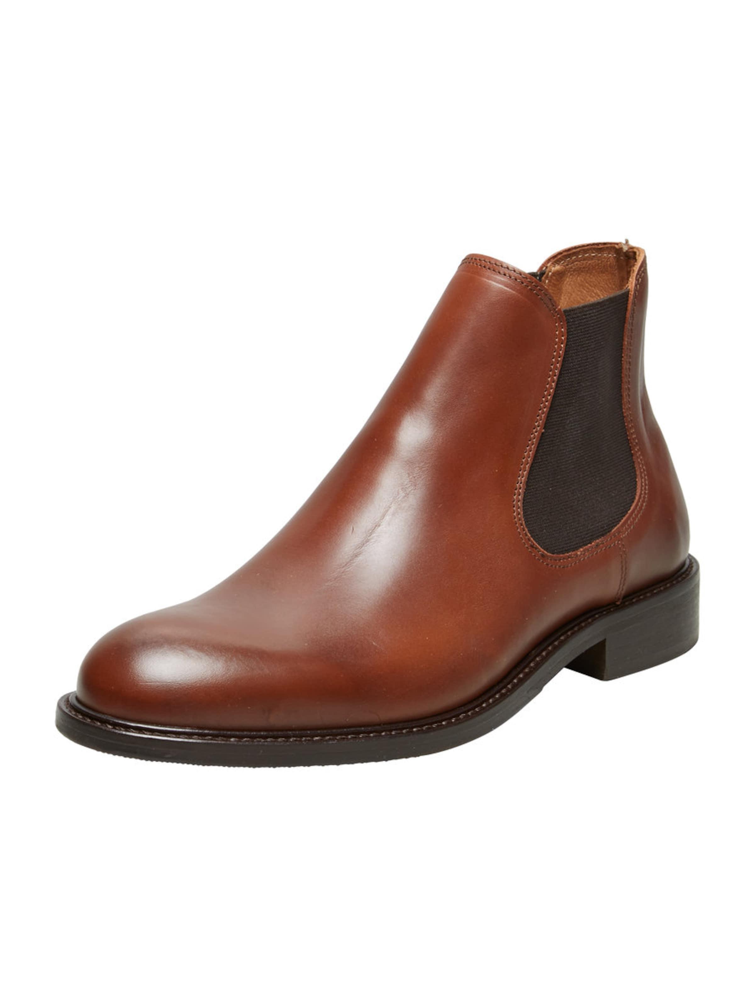 SELECTED HOMME Chelsea Lederstiefel Günstige und langlebige Schuhe