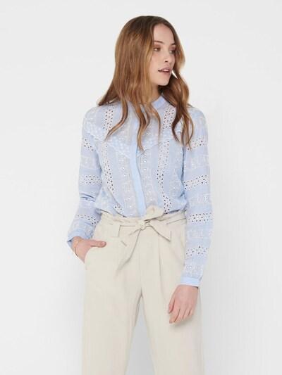 ONLY Bluse in blau / weiß, Modelansicht