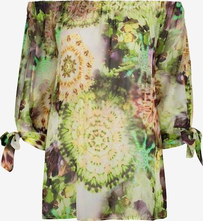 Nicowa Carmenbluse 'COMITA' in grün / mischfarben, Produktansicht