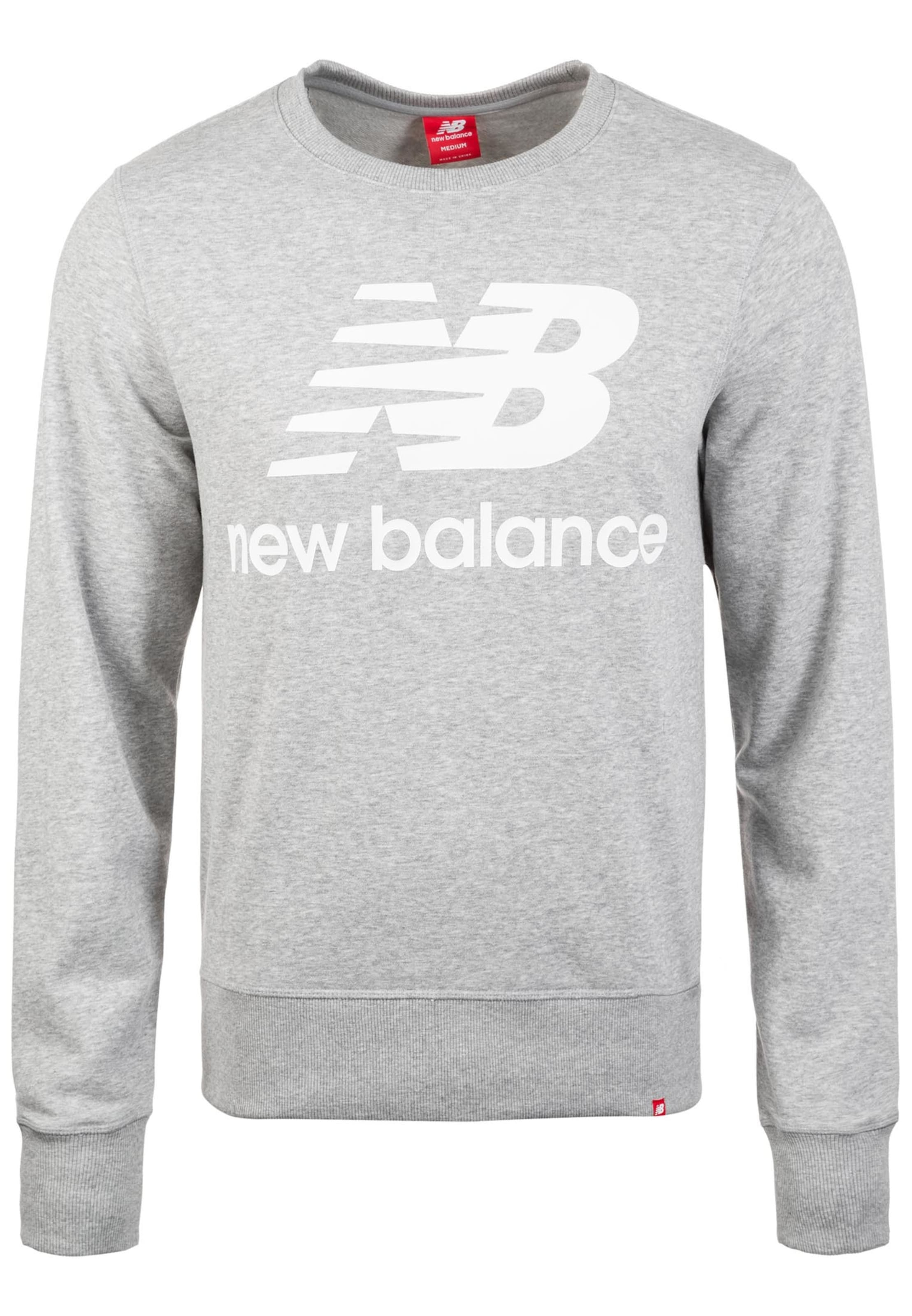 Balance Graumeliert 'essentials New In Sweatshirt Crew' Logo hrtQCds
