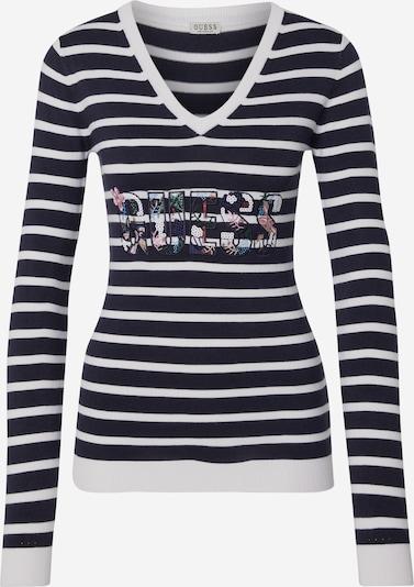 GUESS Pullover 'VERONICA' in blau / weiß, Produktansicht