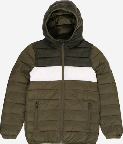 Jack & Jones Junior Jacke in khaki / dunkelgrün / weiß, Produktansicht