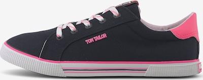 TOM TAILOR Shoes Stoffsneaker mit Neon-Details in blau, Produktansicht