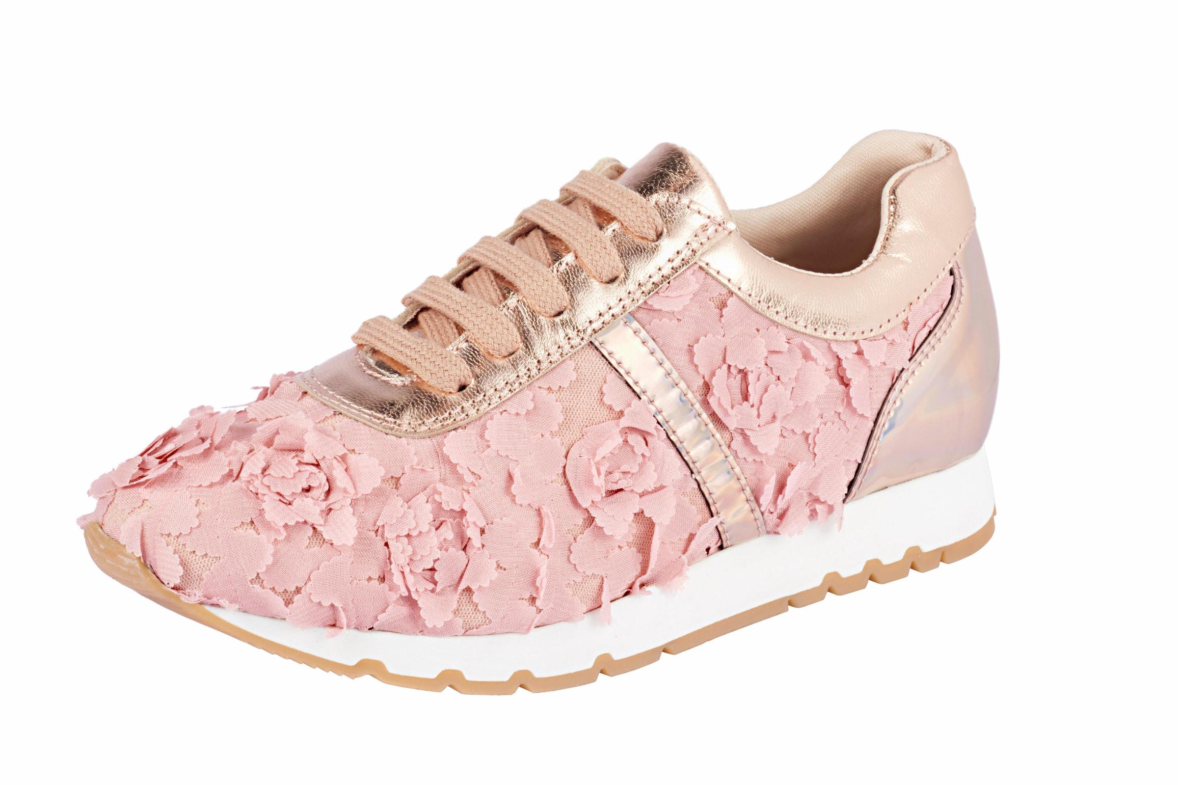 heine Sneaker mit Blüten-Applikation Günstige und langlebige Schuhe