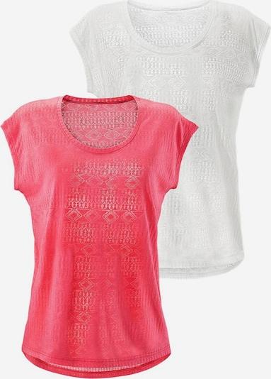LASCANA T-shirt en rose / blanc, Vue avec produit