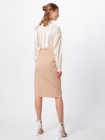 Missguided Rok 'Horn Belted Wrap Utility Midi Skirt' in de kleur Sand: Achteraanzicht