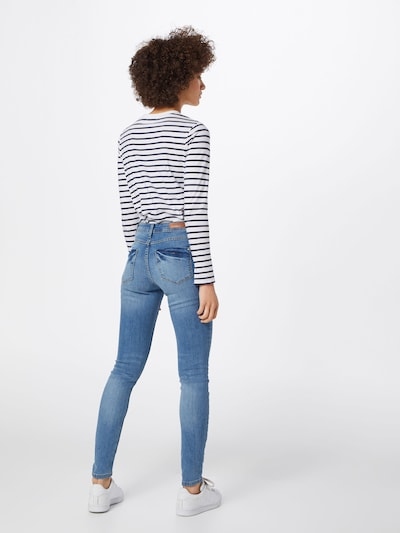 JACQUELINE de YONG Jeans 'JDYMAGIC SKINNY RW LIGHT BLUE NOOS DNM' in blue denim: Rückansicht