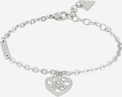 GUESS Opaska 'PAVE G HEART CRYSTALS BR (RH)' w kolorze srebrnym, Podgląd produktu