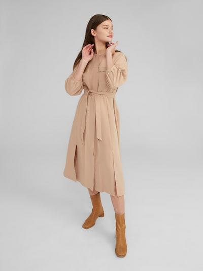 EDITED Košeľové šaty 'Nichola' - béžová, Model/-ka