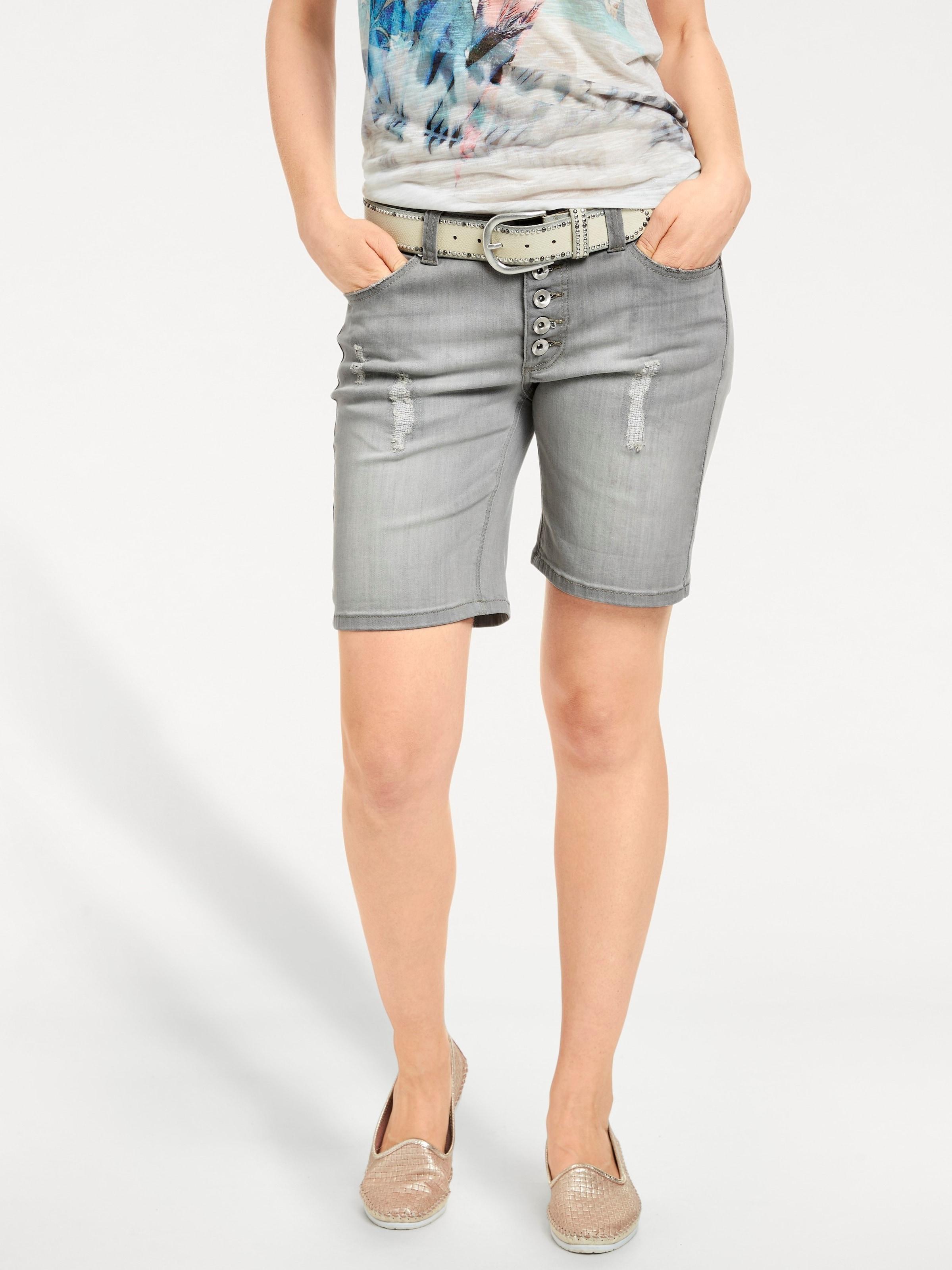 shorts Grey Denim In Heine Boyfriend 1KTFclJ