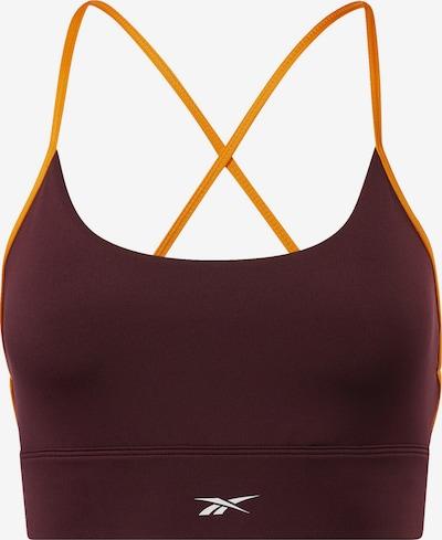 REEBOK Sport bh in de kleur Sinaasappel / Wijnrood, Productweergave
