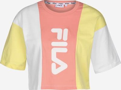 FILA T-Shirt in gelb / lachs / weiß, Produktansicht
