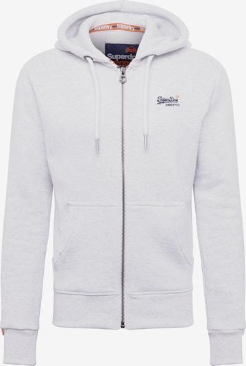 Superdry Sweatjacke 'ORANGE LABEL ZIPHOOD' in weiß, Produktansicht