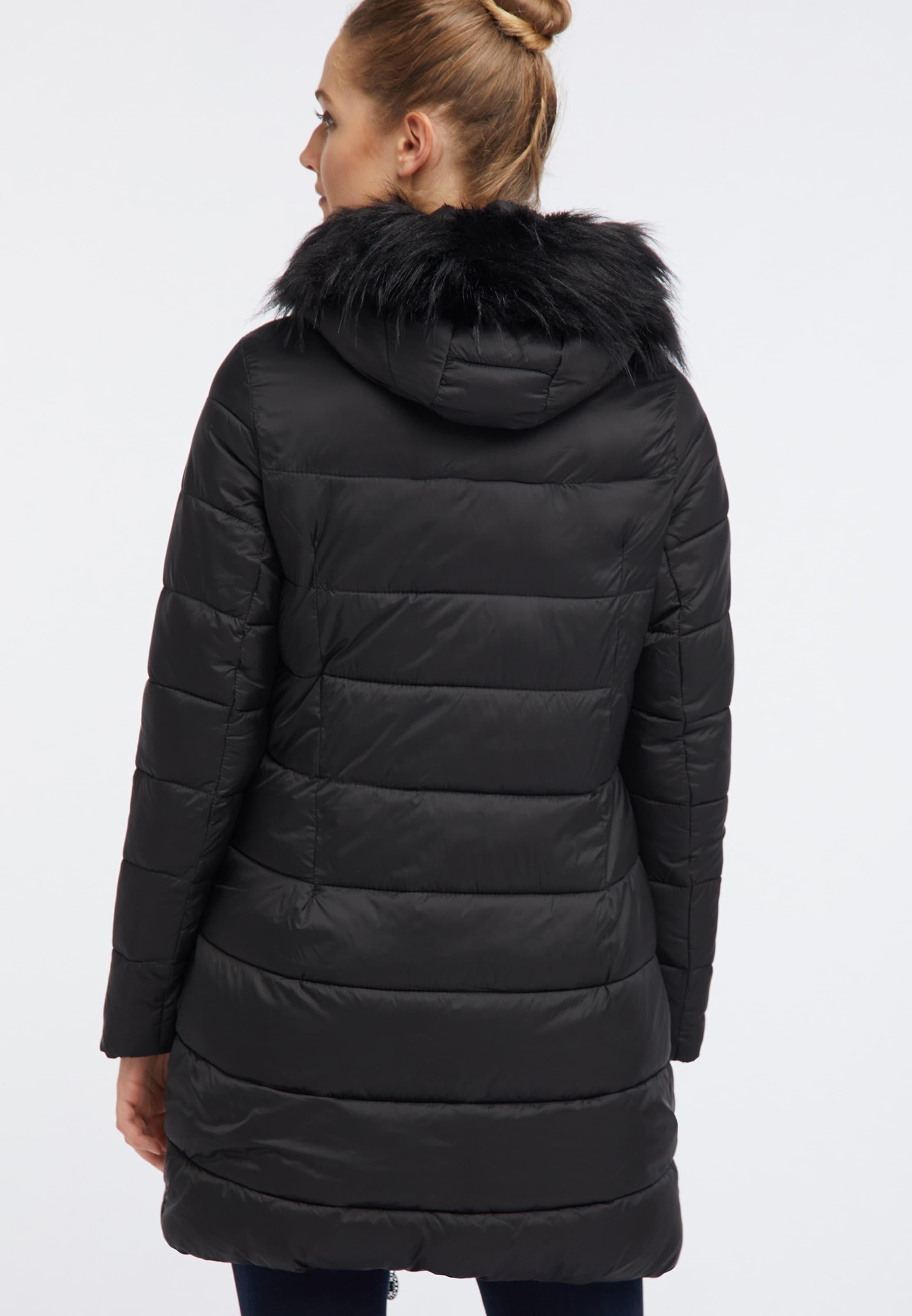 Usha Manteau En Usha D'hiver D'hiver En Manteau Manteau Usha Noir D'hiver Noir IEWD29HY