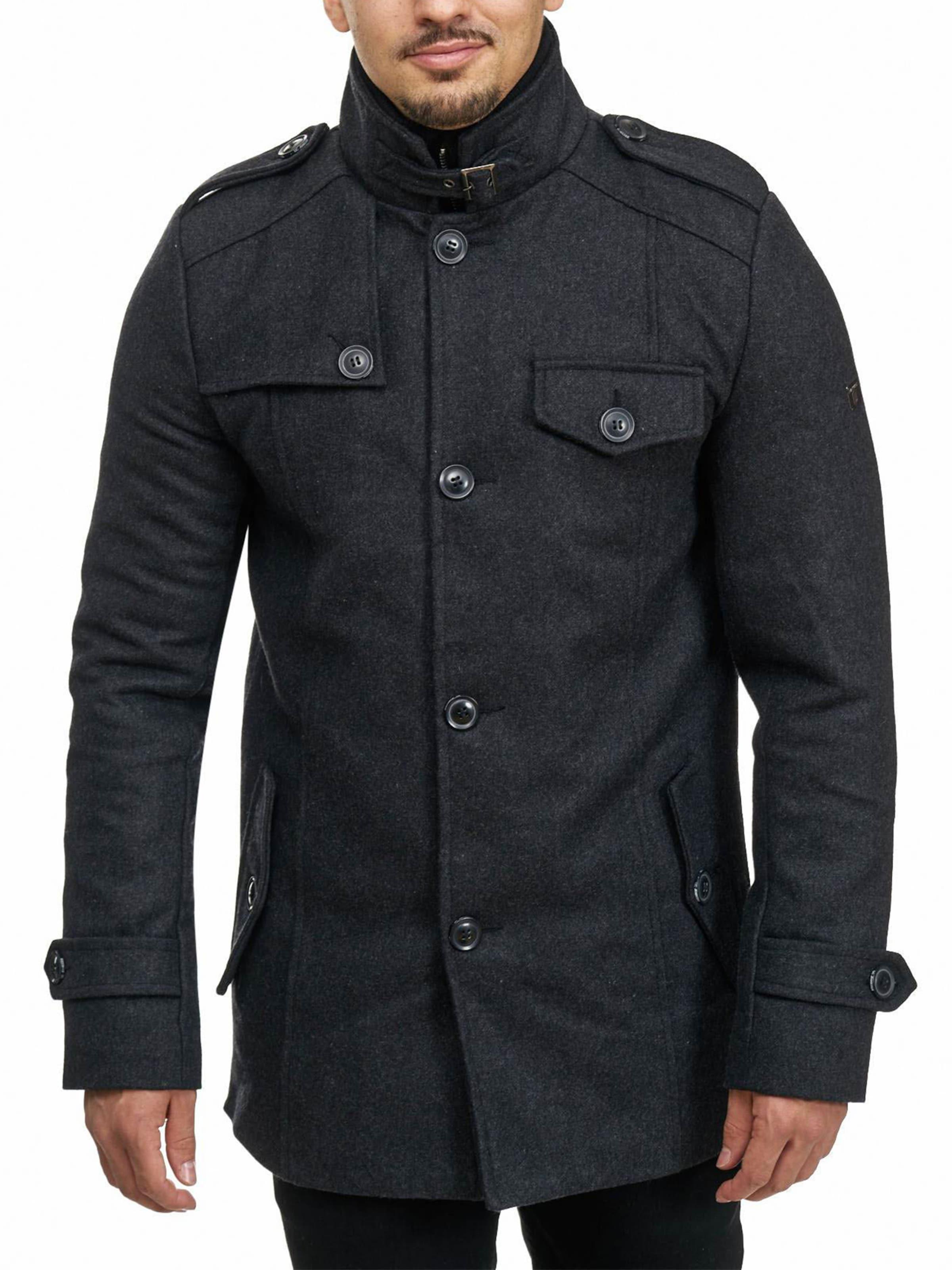 ' En D'hiver Jeans Manteau Mäntel Noir Brandon Indicode 5jc4ARqL3