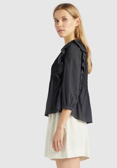 khujo Bluse 'HALIA' in schwarz, Modelansicht