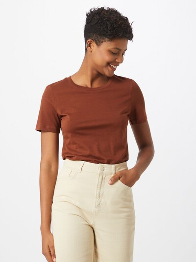 ARMEDANGELS Koszulka 'Lida' w kolorze brązowym: Widok z przodu