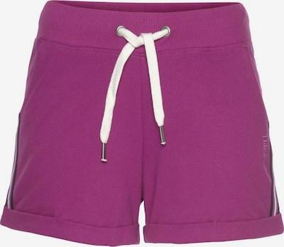 HIS JEANS Pantalon de pyjama en violet / noir / blanc, Vue avec produit