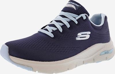 SKECHERS Sneaker in marine / weiß: Frontalansicht