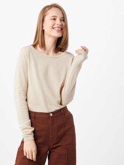VERO MODA Strickpullover 'Care' in creme, Modelansicht