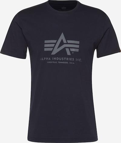 ALPHA INDUSTRIES Majica u tamno plava / siva, Pregled proizvoda