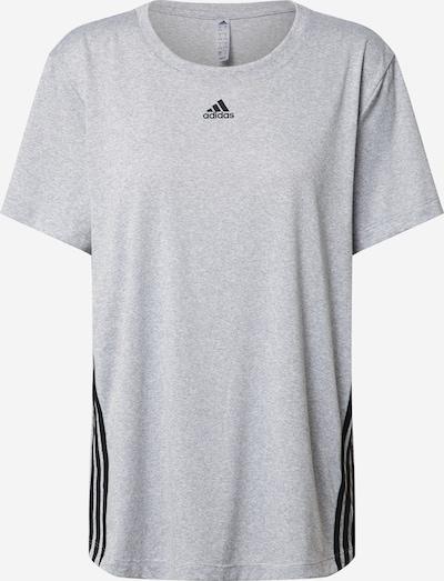 ADIDAS PERFORMANCE T-Shirt in graumeliert / schwarz / weiß, Produktansicht