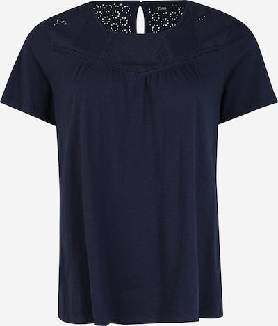 Zizzi T-shirt 'MSIERRA' en indigo, Vue avec produit