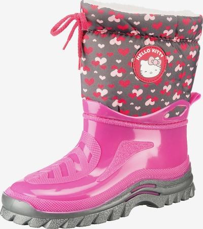 HELLO KITTY Stiefel 'Hello Kitty' in grau / pink / rot, Produktansicht