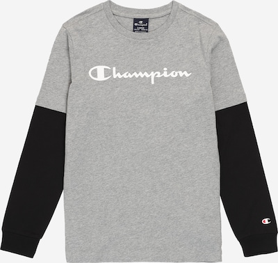 Champion Authentic Athletic Apparel Sweatshirt in graumeliert / schwarz / weiß: Frontalansicht