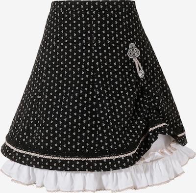 MARJO Trachtenrock in schwarz / weiß, Produktansicht