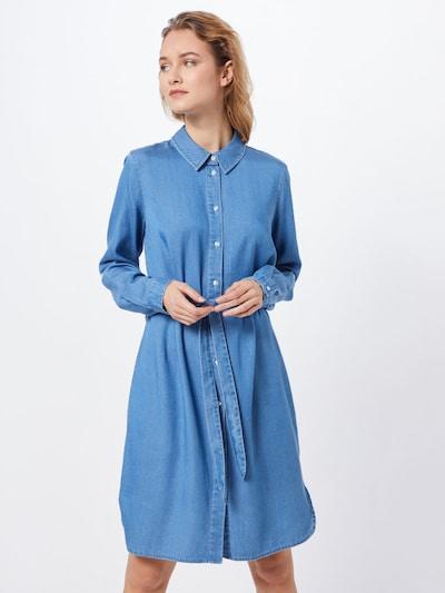 VILA Sukienka koszulowa 'VIBISTA' w kolorze niebieski denimm, Podgląd na modelu(-ce)