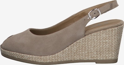 TAMARIS Pumps in de kleur Taupe, Productweergave