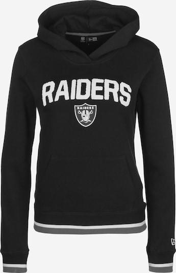 NEW ERA Hoodie 'NFL Properties Oakland Raiders' in schwarz / weiß, Produktansicht