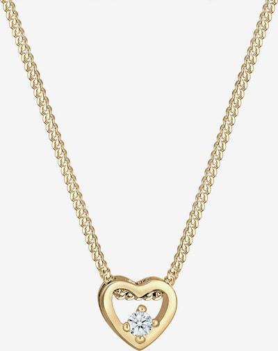 Diamore Halskette 'Herz' in gold / weiß, Produktansicht