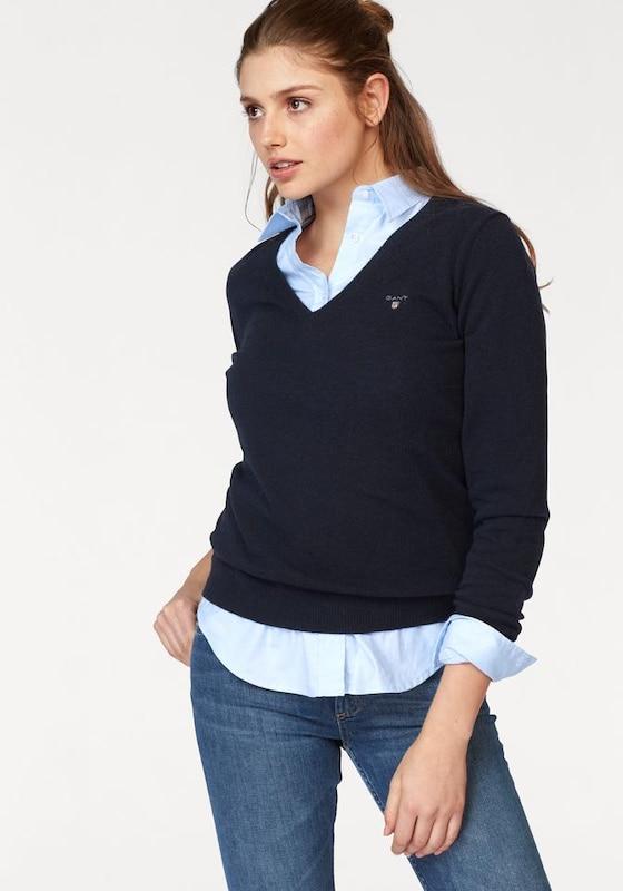 GANT Extrafeiner V-Pullover