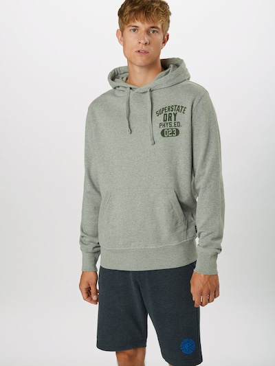 Superdry Sweatshirt 'SUPERSTATE' in de kleur Grafiet / Grijs gemêleerd: Vooraanzicht