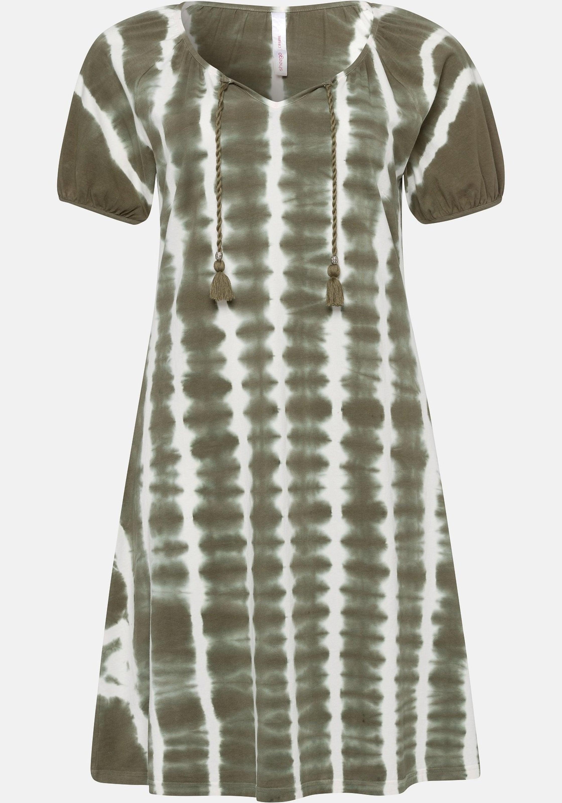 Kleid KhakiWeiß Sheego Sheego In In Kleid KhakiWeiß kPuOZXiT