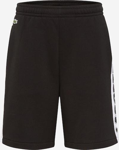 LACOSTE Shorts in schwarz / weiß, Produktansicht