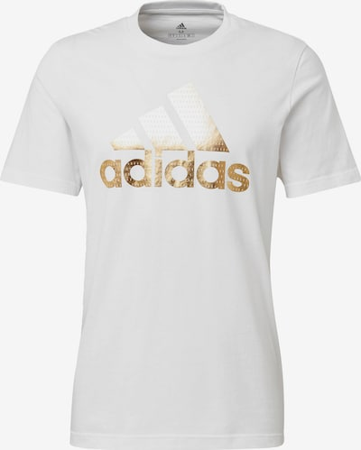 ADIDAS PERFORMANCE T-Shirt 'Athletics Graphic' in gold / weiß, Produktansicht