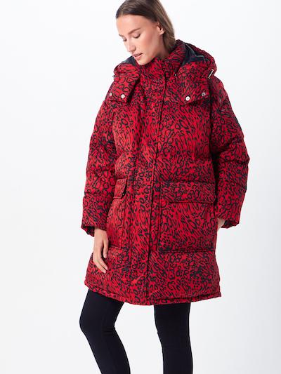 Calvin Klein Mantel in rot / schwarz, Modelansicht