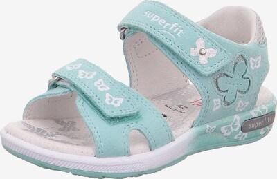 SUPERFIT Sandale  'Emily' in mint / silber / weiß, Produktansicht