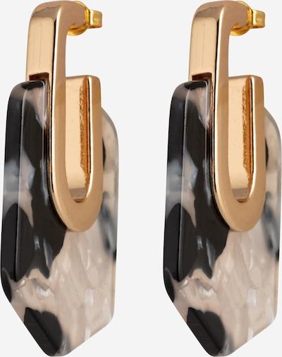 Fräulein Wunder Ohrringe 'Ajex' in gold / schwarz / weiß, Produktansicht