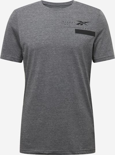 REEBOK Funkční tričko - šedý melír / černá, Produkt